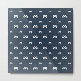 Game controller pattern Metal Print