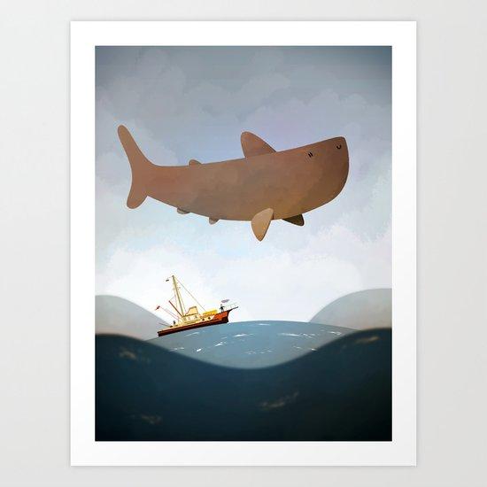 Jaws Art Print