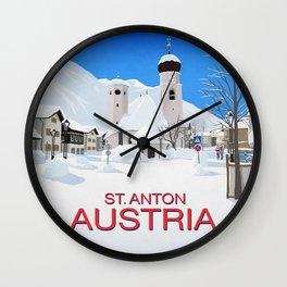 St Anton Austria Wall Clock