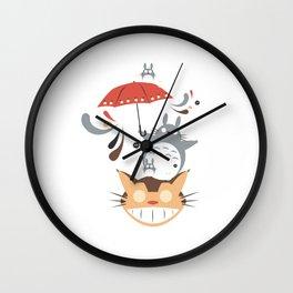 cat Umbrella Wall Clock