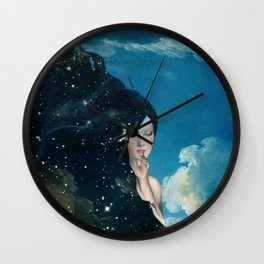Shhh...Lady Night Is Coming Wall Clock