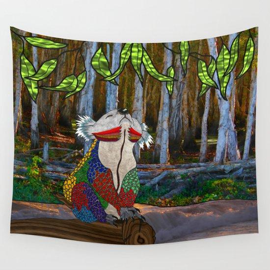Doodlage 07 - Koala Dreaming Wall Tapestry