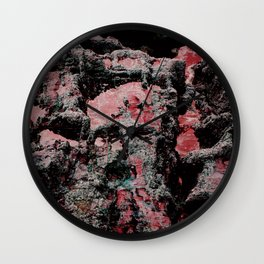 Red Stone Faces Wall Clock