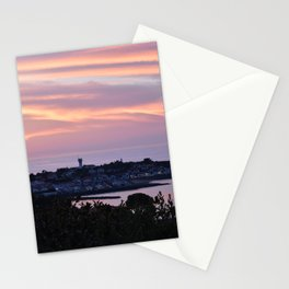 Pink sky on the sea Stationery Cards