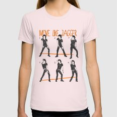 Move Like Jagger (MOVE LIKE COLLECTION) Light Pink LARGE Womens Fitted Tee