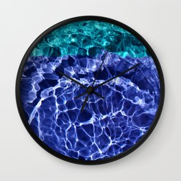 Electric Blue Globes Wall Clock