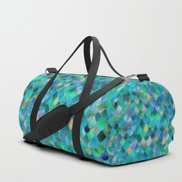 Summer Ocean Metal Mermaid Scales Duffle Bag