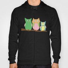 Owl Family Portrait Hoody