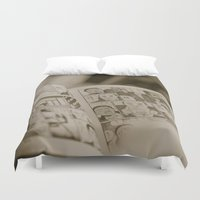 manga Duvet Covers featuring manga by gorkarcophoto