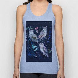 Night Owls Unisex Tank Top