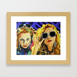 WOMAN WITH YELLOW HAIR Framed Art Print