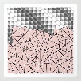 Ab Lines 45 Dogwood Art Print