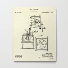 Washing Machine-1887 Metal Print