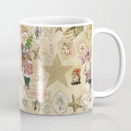 Vintage Christmas Collage Pattern Coffee Mug