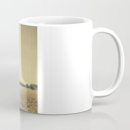 Lonely Field in Brown Coffee Mug