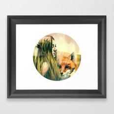 V! Framed Art Print