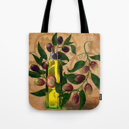 Olives and Italian Olive Oil Tote Bag