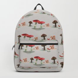 Cottage Core Mushroom Pattern Backpack