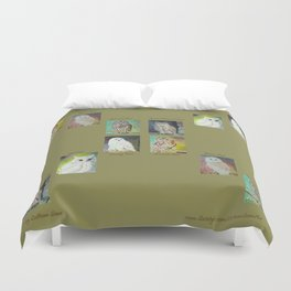 Six Owls Duvet Cover