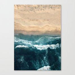 Aerial Coastline Beach Canvas Print
