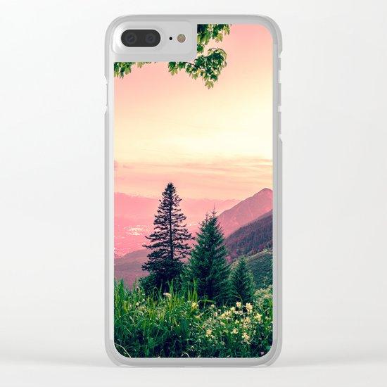 Alpine Fairytale Clear iPhone Case