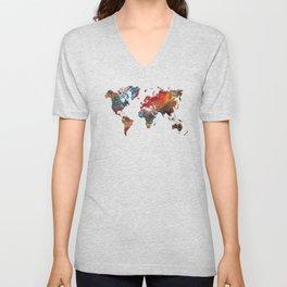 World Map 2020 Unisex V-Neck