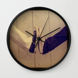 Converse Black and White Wall Clock