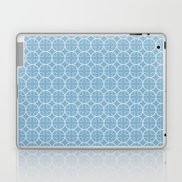 Soft Blue Geometric Pattern with Circles & Squares Laptop & iPad Skin
