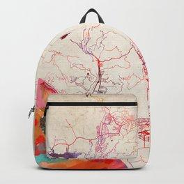Ventura map California painting Backpack