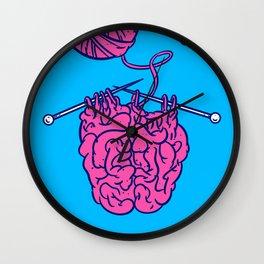 Knitting a brain Wall Clock