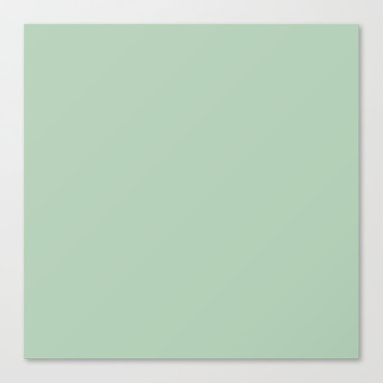 Simply Pastel Cactus Green Canvas Print