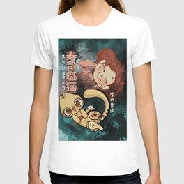 Sushi Chef Neko - Snow Shodou - Junpei and Anzu Design 2 T-shirt