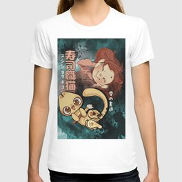 Sushi Chef Neko - Snow Shodou - Junpei and Anzu Design 2 T-shirt