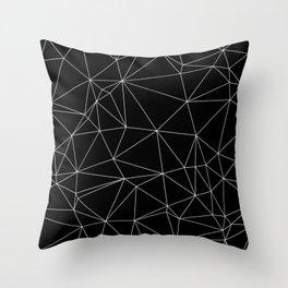 Geometric Black and White Minimalist Pattern Throw Pillow