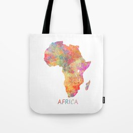 Africa map 2 Tote Bag