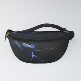 blue and electric texture 3 Fanny Pack
