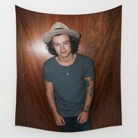 one direction Wall Tapestries featuring One Direction by behindthenoise
