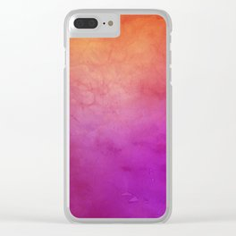 Watercolor BG Clear iPhone Case