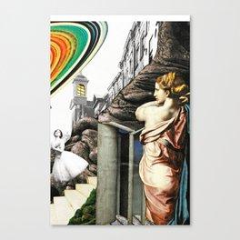 Invasion - collage Canvas Print