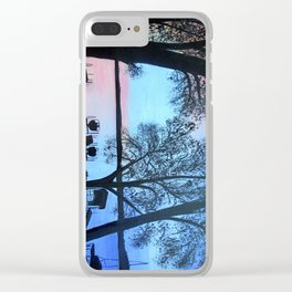 Buffalo lake at night Clear iPhone Case
