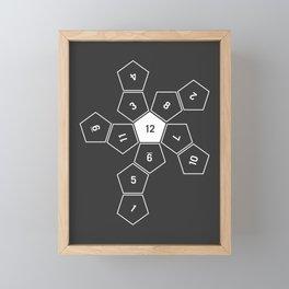 Grey Unrolled D12 Framed Mini Art Print