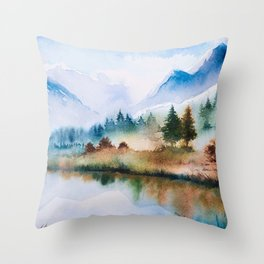 Winter scenery #16 Throw Pillow