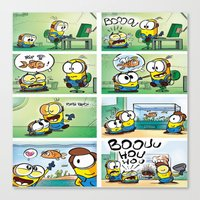 minion Canvas Prints featuring Minion by Duitk