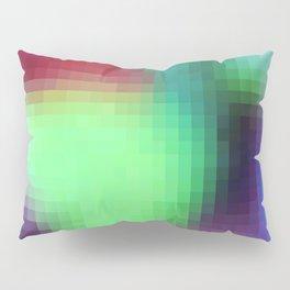pixelated watercolor IX after dark Pillow Sham