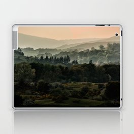 Foggy morning in Lake District Laptop & iPad Skin