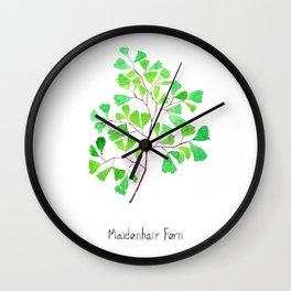 Maiden hair fern Wall Clock