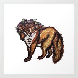 My Foxy Friend Art Print