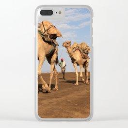 Camel Caravan Clear iPhone Case