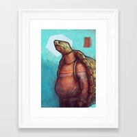 turtles Framed Art Prints featuring Turtles by Ronan Lynam