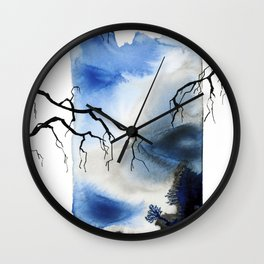 INK TREES Wall Clock